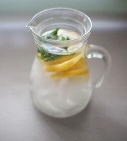 Vivonline Kan water met citroen en munt