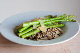 Rappe risotto met groene asperges