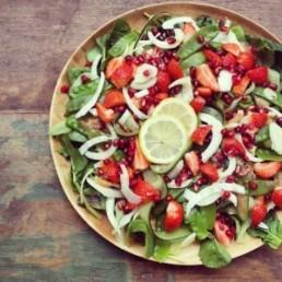 zomer aardbeien salade green happiness