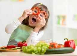 kinderen eten groente